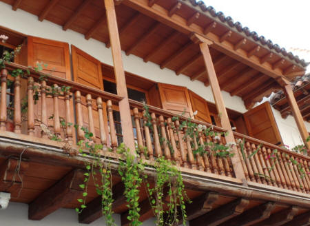 Colonial Balcony in Colombia