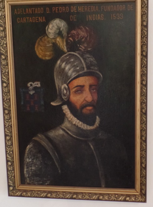 painting of spanish conquistador in colombia