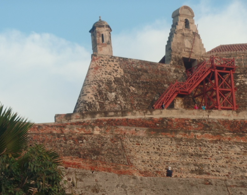 Close up of Cartagena's fortifications