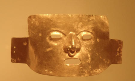 Artifact at gold Musuem in Colombia