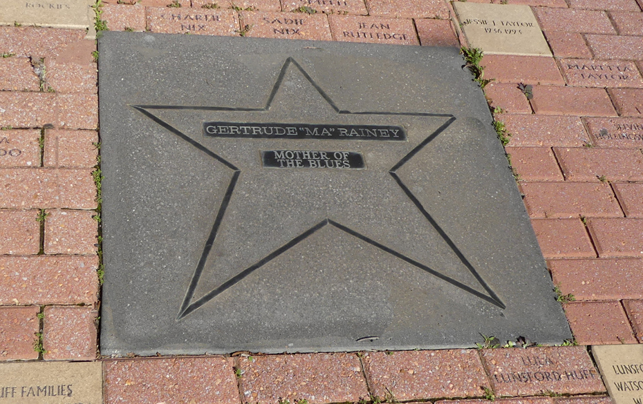 Ma rainey's star in the sidewalk in front of Liberty Theater in Columbus, GA