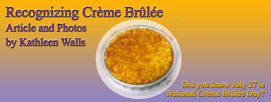 imaGE OF cREME bRULEE WITH TITLE  embeded