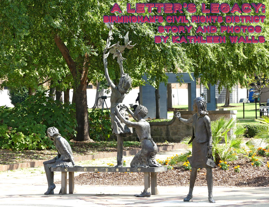 sculpture of murdered girls in Birmingham's Kelly Ingram park