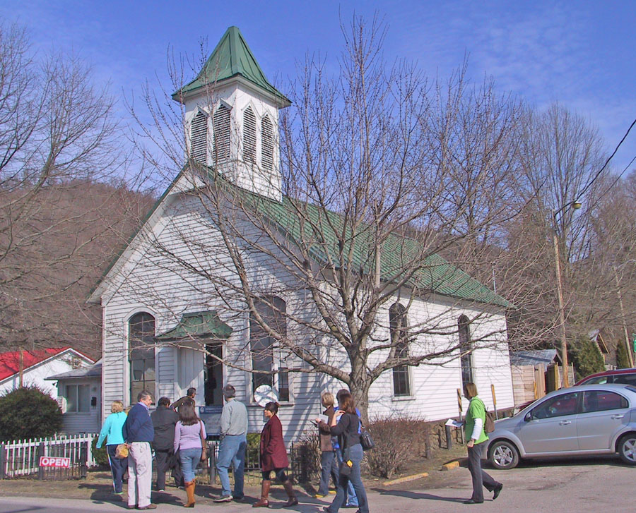 Booker T Washington's church in Malden, West Virginia