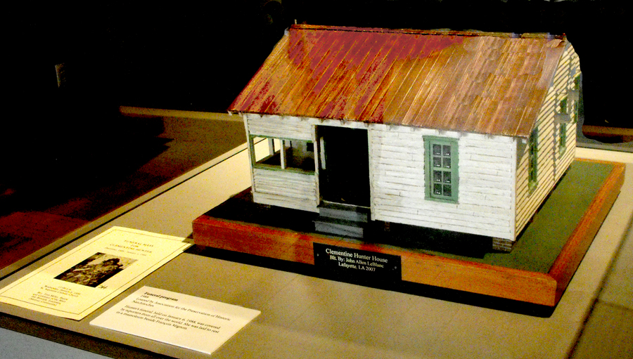 Model of  Clementine Hunter's house  at Northwest Louisiana History Museum