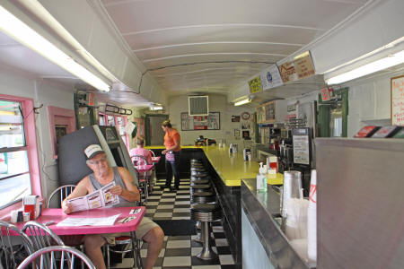 interior of Angel's Diner