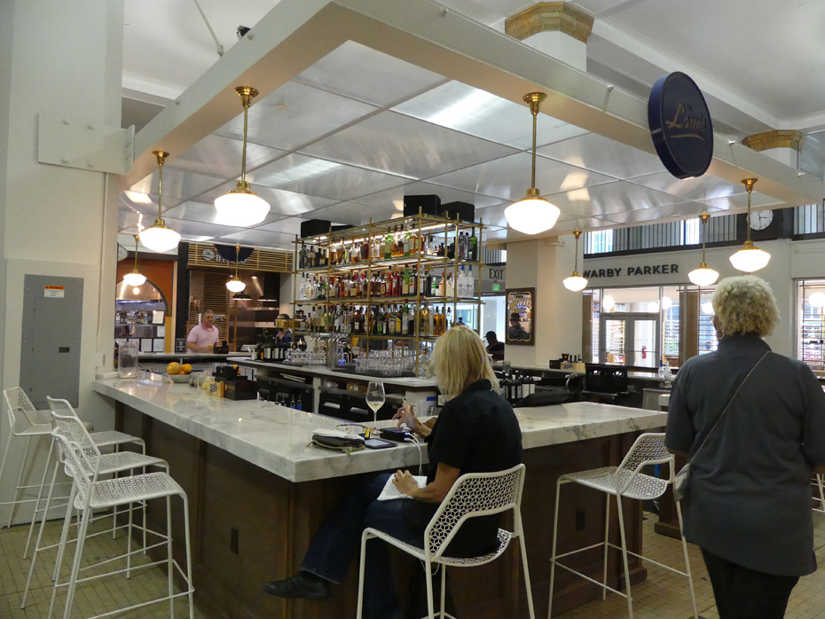 bar at Pizitz Food Hall in Birmingham