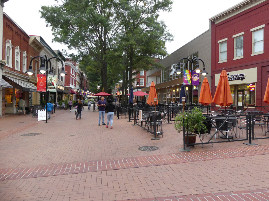 Historic Downtown Mall in Charlottesville