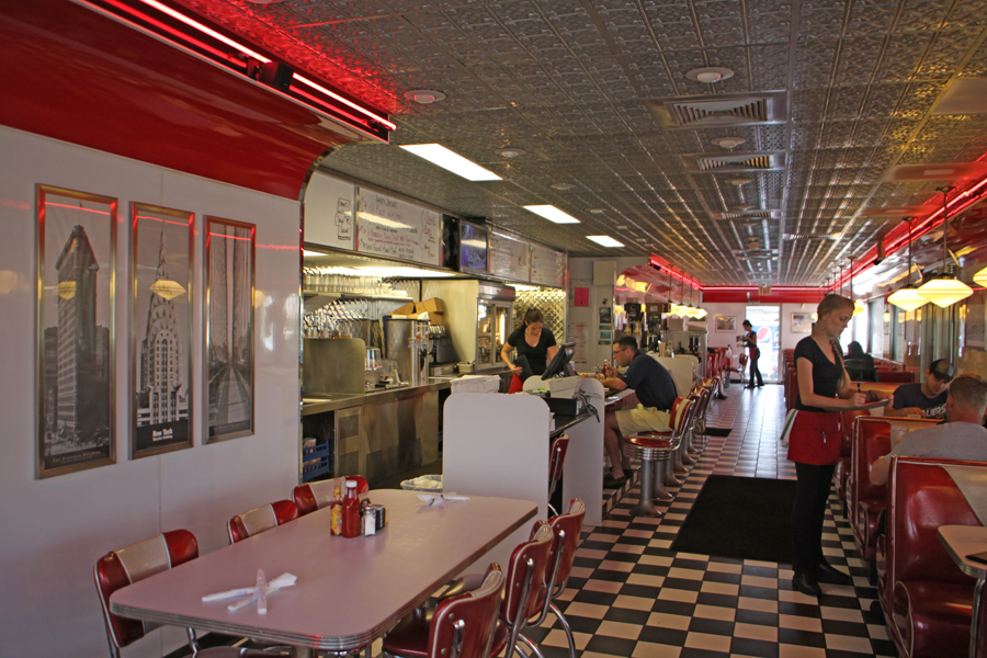 Interior of Georgie's Diner in St. Augustine, Florida