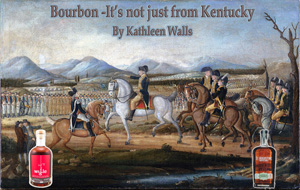 George Wahiington leanding troups against the Whiskey Rebellion