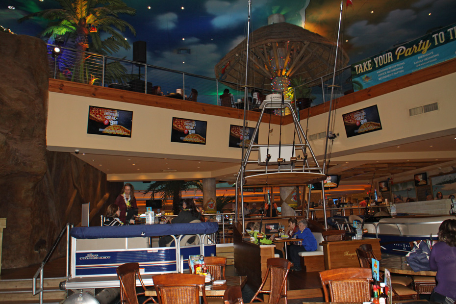 One of the dining rooms at Margaritaville casino
