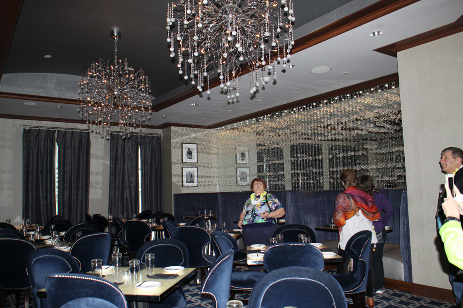 dining room at Jimmy's steak house