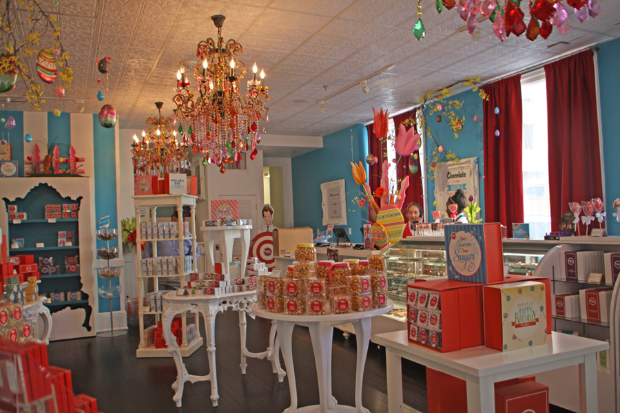 Candy displays at Sweet Pete's in Jacksonville, Florida