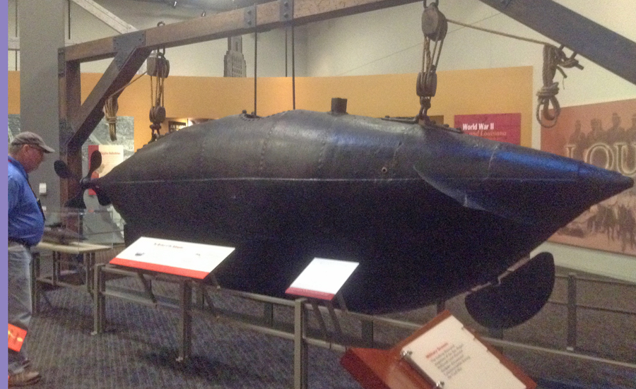 Mystery Submarine in Capitol Park Museum in Baton Rouge, LA