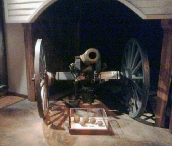 Civil War cannon at the West Virginia State Museum in Charleston