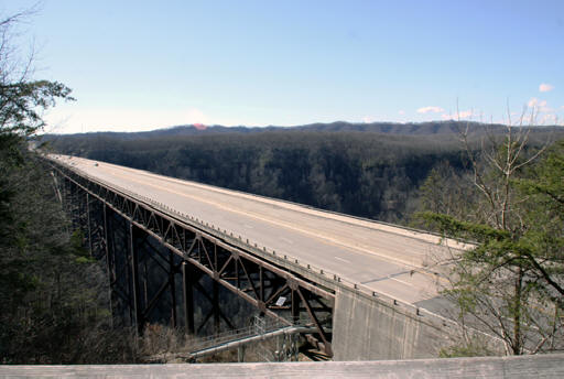 bridge over the New River Gorge in Fayetteville, West Virginia