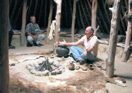 earth lodge at dancing leaf cultural learning center in the sandhills of Nebraska