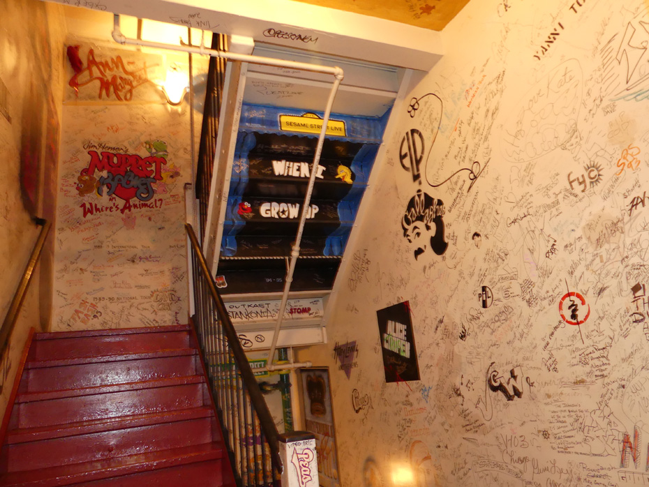 steps and autographed wall at Fox Theater detroit