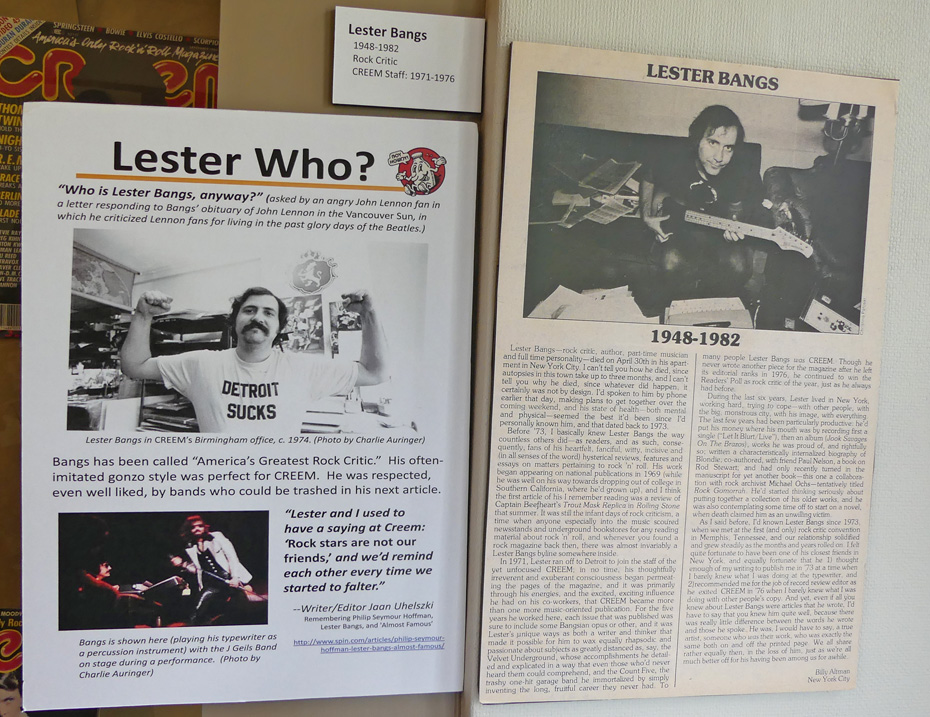Pages of information about Lester Bangs