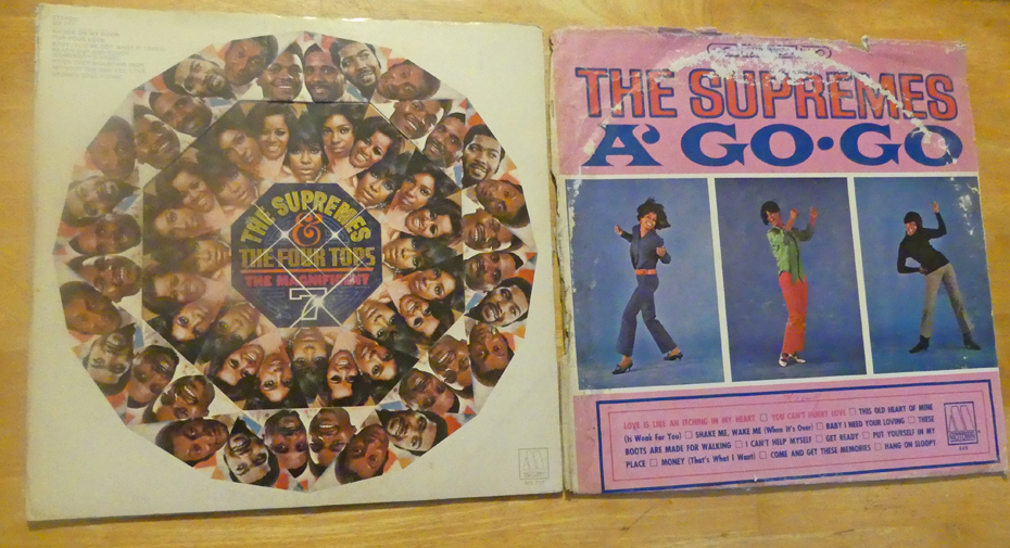 album covers of the Supremes and four tops