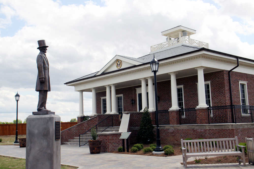 Stature of Abe Lincoln and Freedom Center at Discovery Park  In Union City, Tennessee