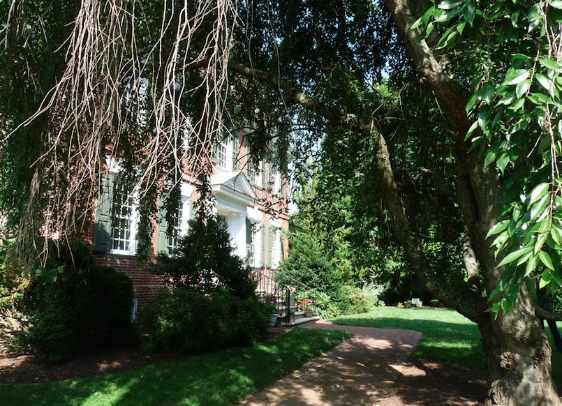 Exterior view of Belmont Hall Mansion in Delaware