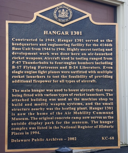 Hangar 1301 Air Mobility Command Museum marker