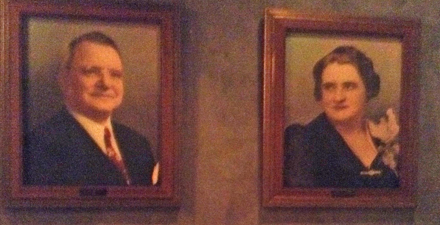 Joseph and Rosalie Brussard portraits at Broussard's Restaurant in New Orleans