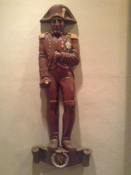 Napoleon stature at Broussard's Restaurant in New Orleans