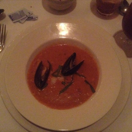 Tomato Basil soup at Broussard's Restaurant in New Orleans