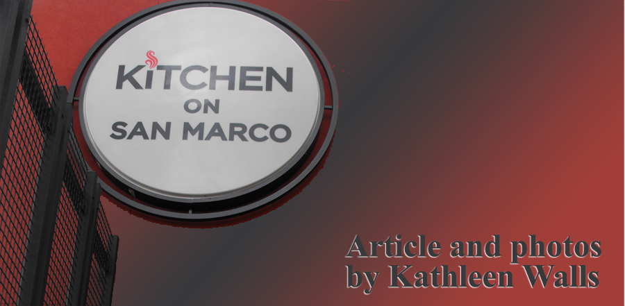 sign showing Kitchen on San Marco