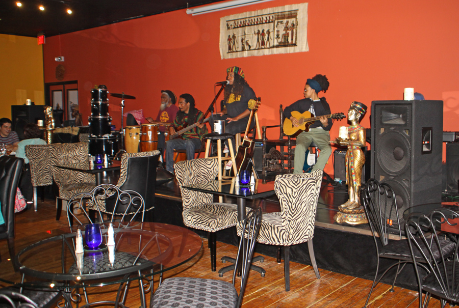 band playing at Nefetari's Fine Cuisine & Spirits in Tallahassee