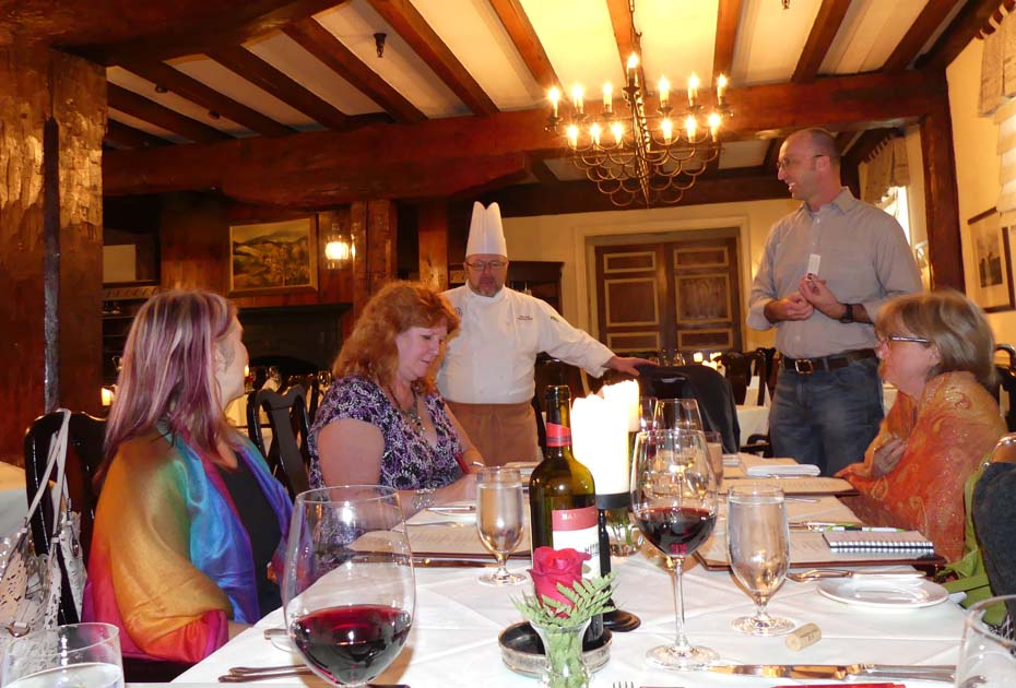 Chef talks to visitors at Old Mill Room