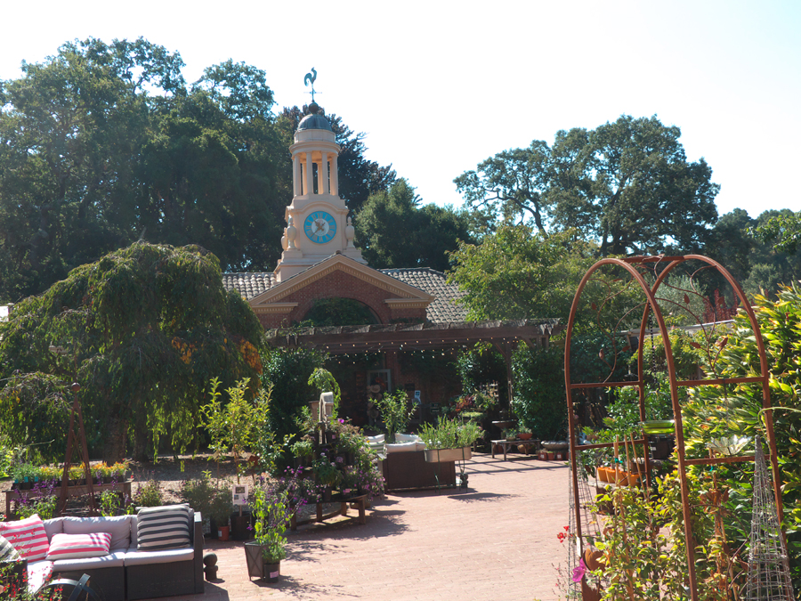 The garage withits clock tower at Filoli