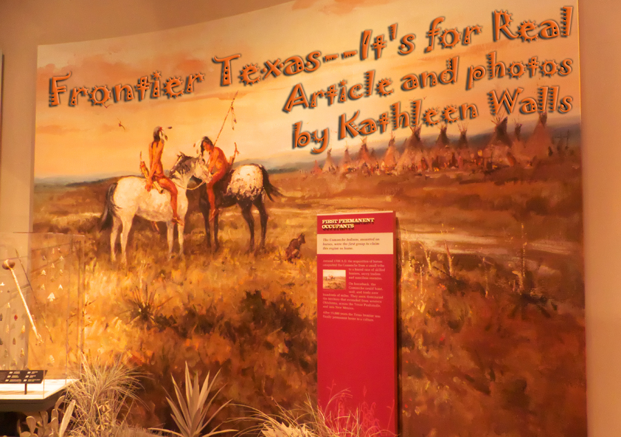 Plains Indians picture at Frontier Texas Museum in Abiline