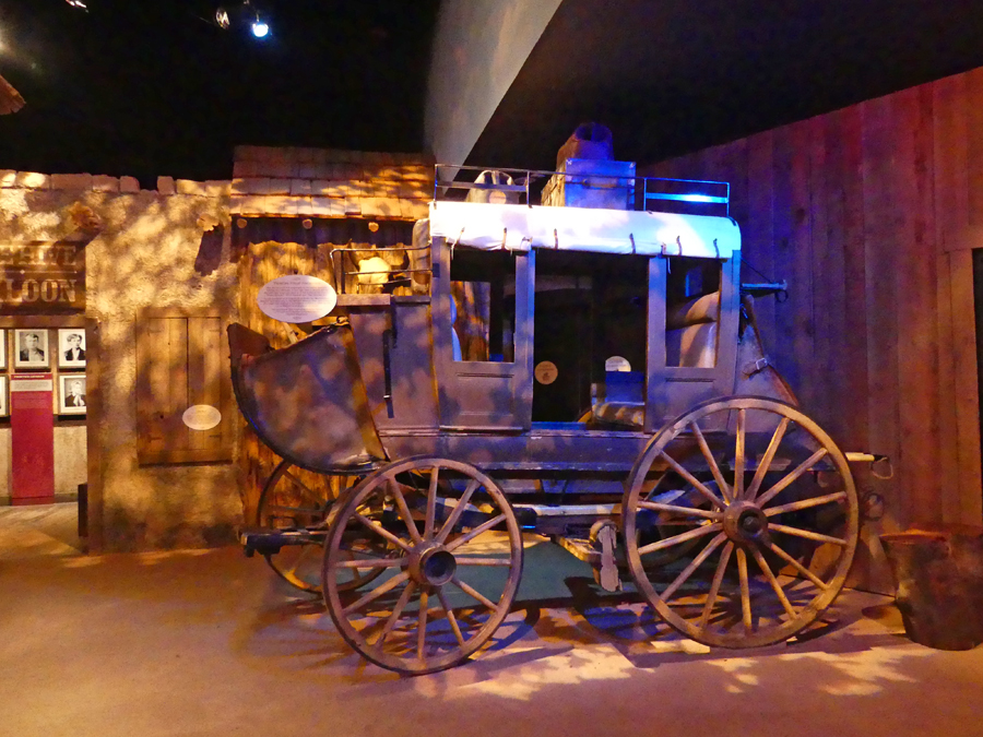 Stagecoach exhibit at Frontier Texas in Abiline