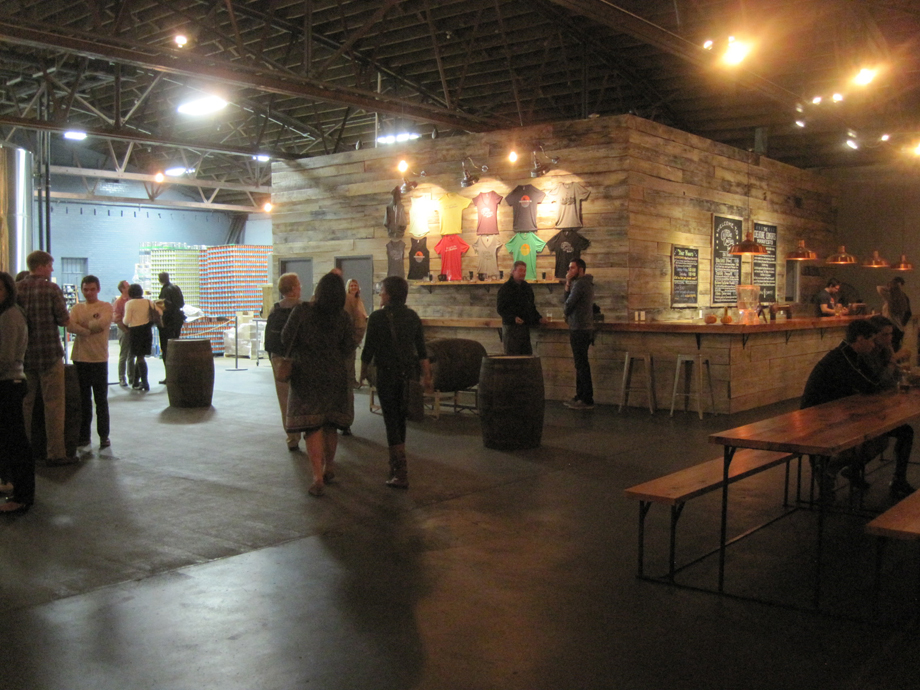 Inside Creature Comforts Brewery in Athens GA