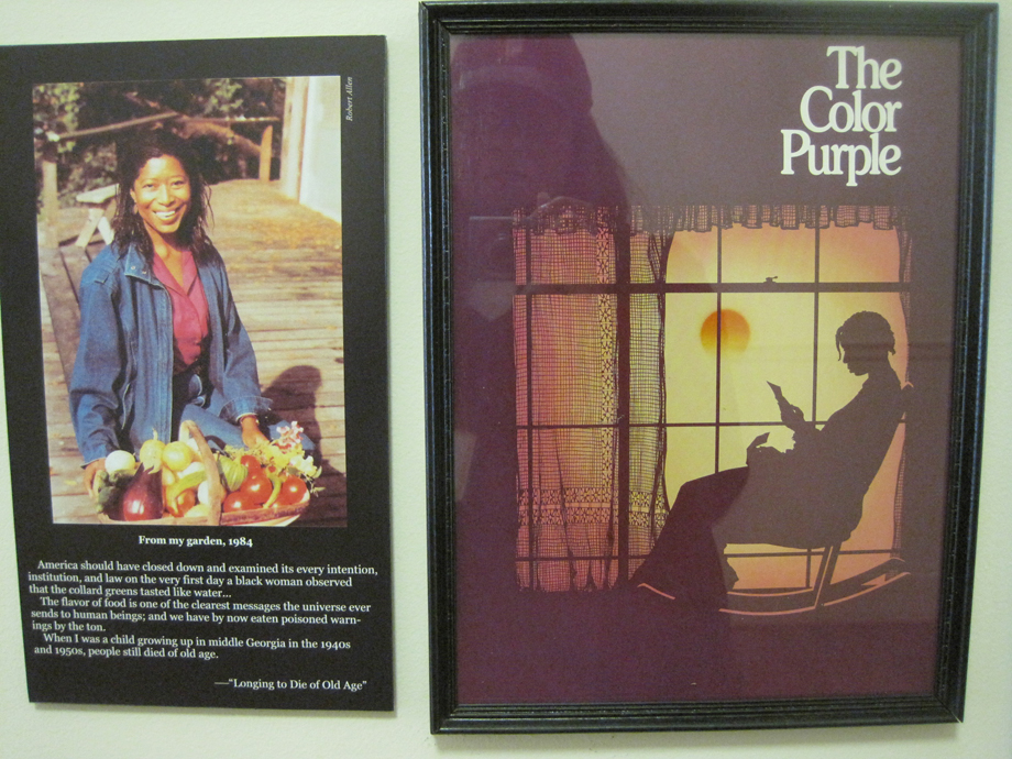 posters about Alice Walker at the Georgia Writers Museum in Eatonton.