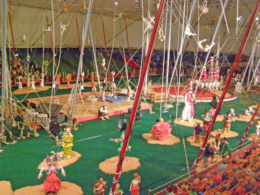 scale model minaiture circus at Ringling Museum in Sarasota, FL.