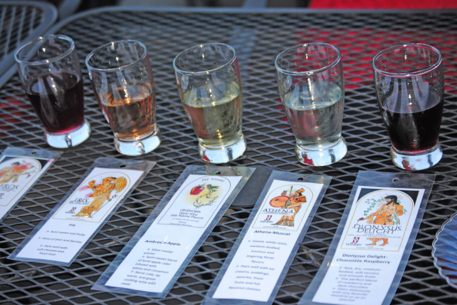 Wine tastings at J and J Winery on Indiana's Chocolate Trail