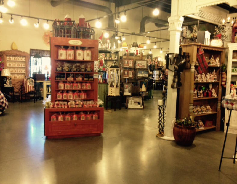 Interior view of Warm Glow Candle Company on Indiana's Chocolate Trail