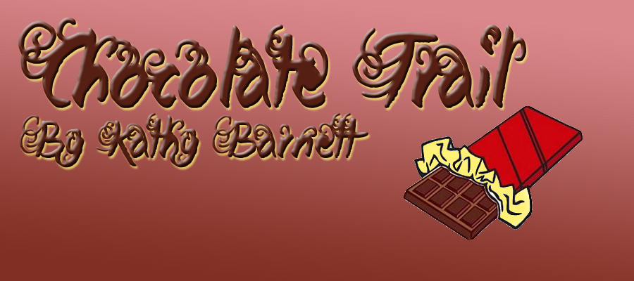 Chocolate trail by Kathly Barnett and candy bar