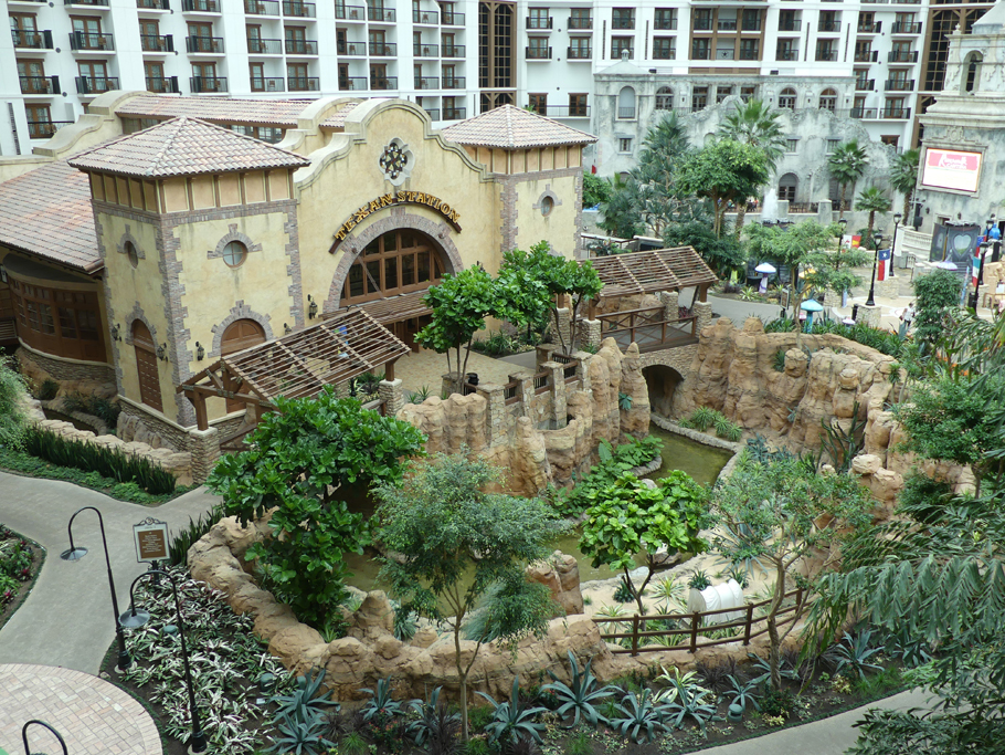 One of the courtyards at Gaylord Texan in Grapevine, Texas