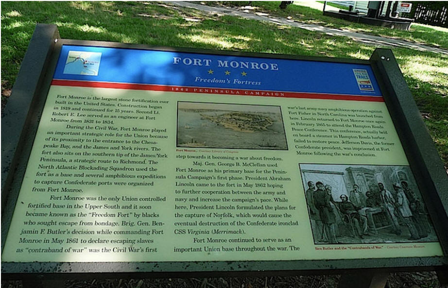 fort monroe fortress plaque