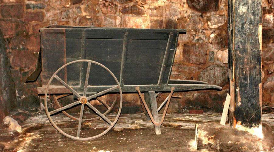 Old cart used at Cornwall Iron Furnace, near Harrisburg, Pennsylvania