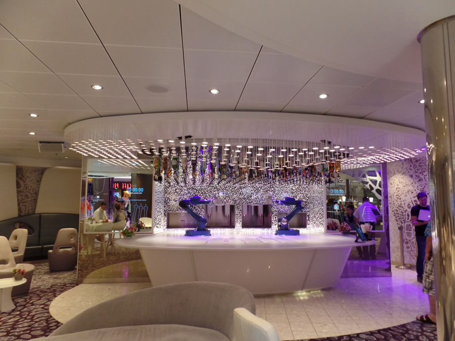 robotic bar on Harmony of the Seas