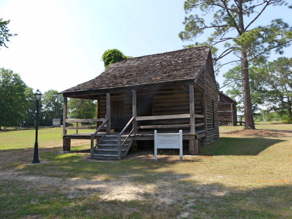 Bradley cabin at Historic Camden