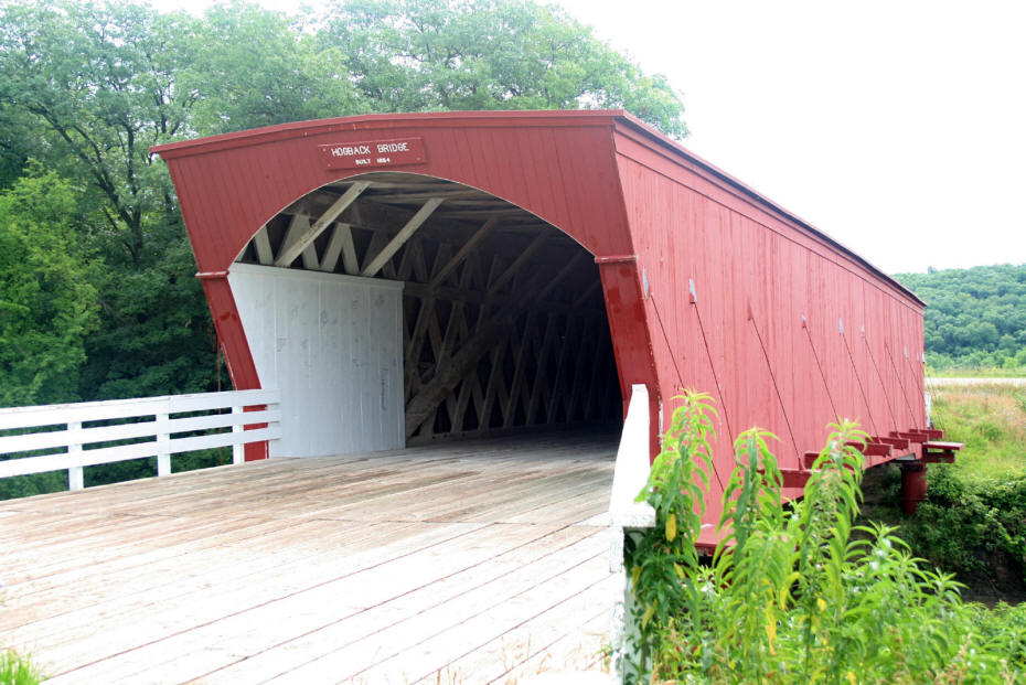 Hogback Covered Bridge in Masdison county