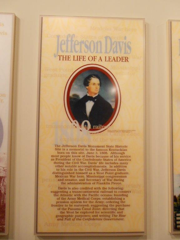 Sign about the life of Jefferson Davis