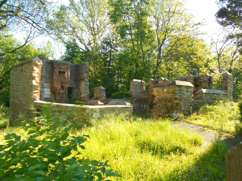 Remains of ironmasters mansion at Catocin Furnace
